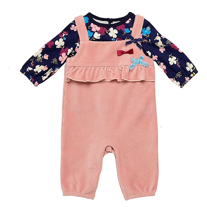 Alternate image 1 for Baby Starters® 2-Piece Deerly Loved Shirt and Overall Set