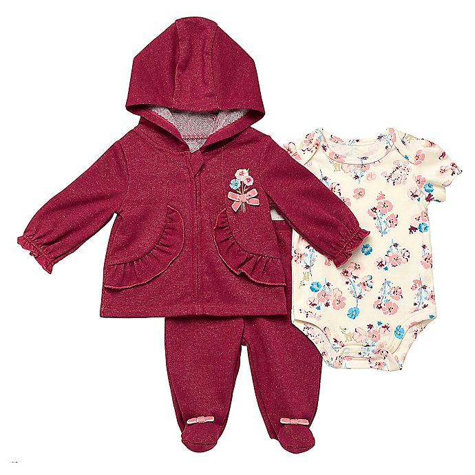 Alternate image 1 for Baby Starters® 3-Piece Deerly Loved Bodysuit, Jacket and Pant Set