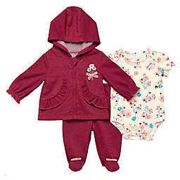 Baby Starters® 3-Piece Deerly Loved Bodysuit, Jacket and Pant Set