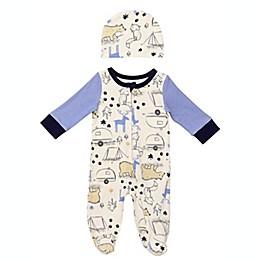 Baby Starters® 2-Piece Never Stop Exploring Footie and Hat Set