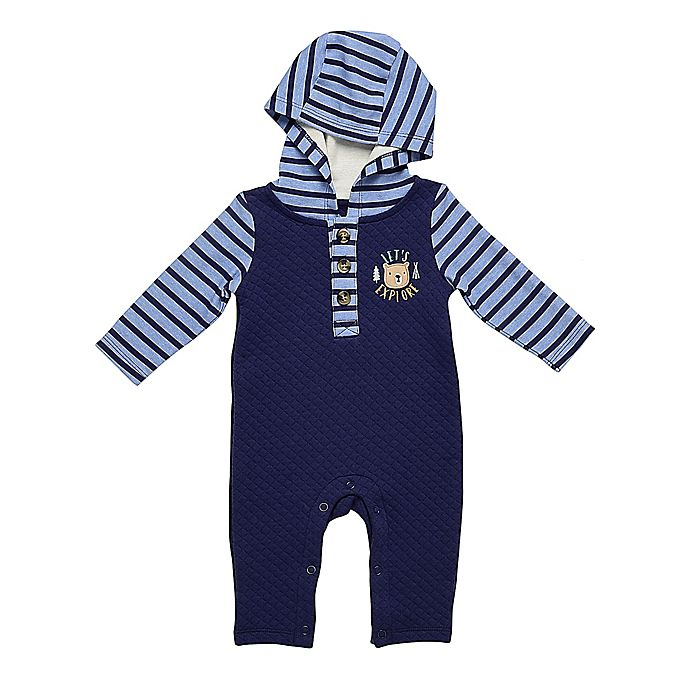 Alternate image 1 for Baby Starters® Quilted Coverall in Navy