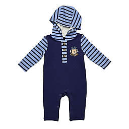 Baby Starters® Quilted Coverall in Navy