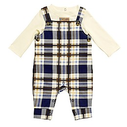 Baby Starters® 2-Piece Never Stop Exploring Overall and Shirt Set in White