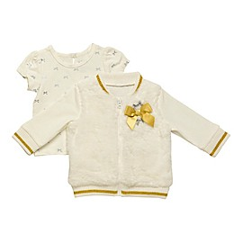 Baby Starters® 2-Piece Top and Faux Fur Jacket Set