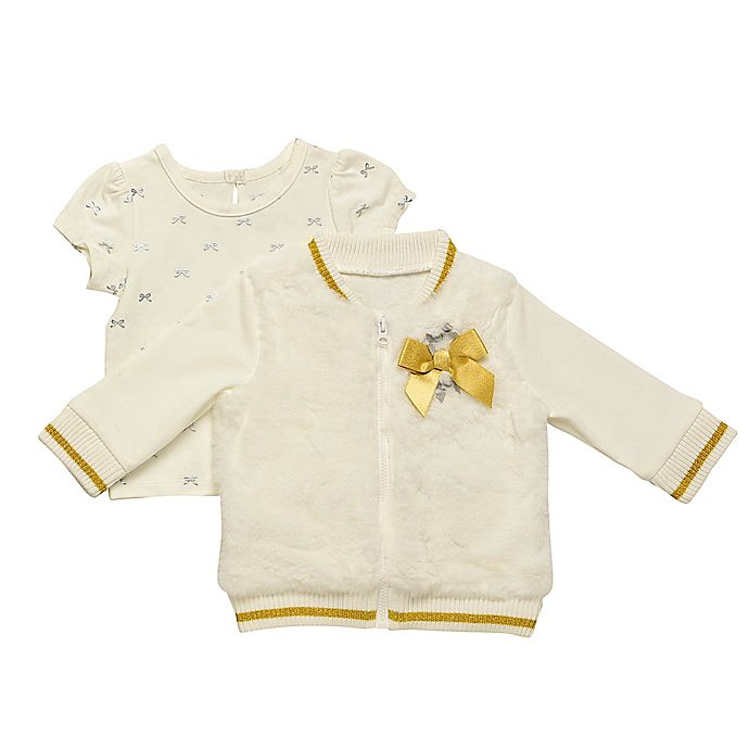 Alternate image 1 for Baby Starters® 2-Piece Top and Faux Fur Jacket Set