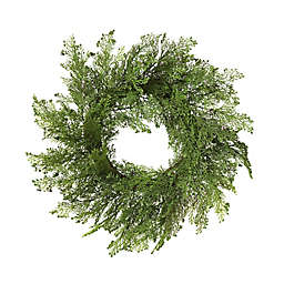 Gerson 24-Inch Cedar Wreath with Berry Accents in Green