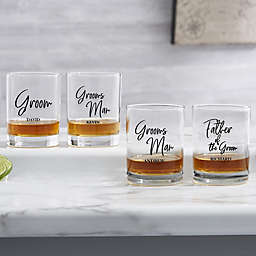 Classic Elegance Wedding Party Whisky Glass