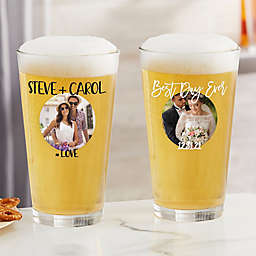 Couple Personalized Photo Glassware Collection