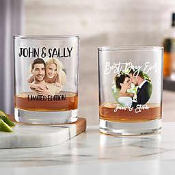 Couple Personalized Photo Whiskey Glass
