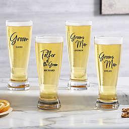 Classic Elegance Wedding Party Pilsner Glass