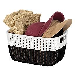 Simplify 2-Tone Decorative Small Storage Basket