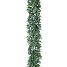 Gerson 6-Foot Cedar and Berry Artificial Garland in Green