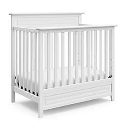 Storkcraft Petal Mini 4-in-1 Crib w Mattress-White