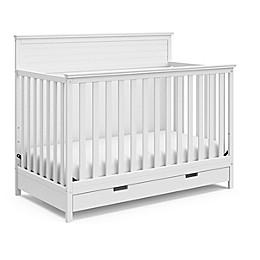 Storkcraft Homestead Crib with Drawer - White