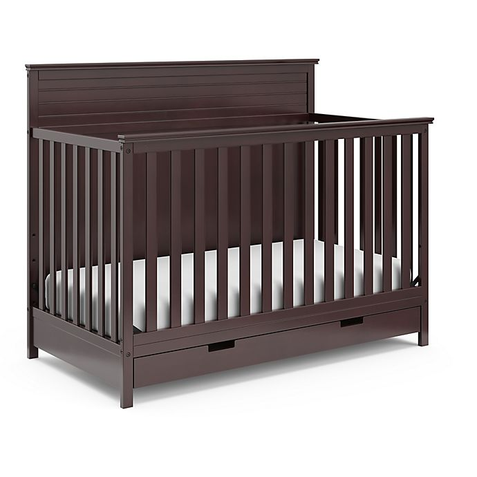 Alternate image 1 for Storkcraft Homestead Crib with Drawer - Espresso
