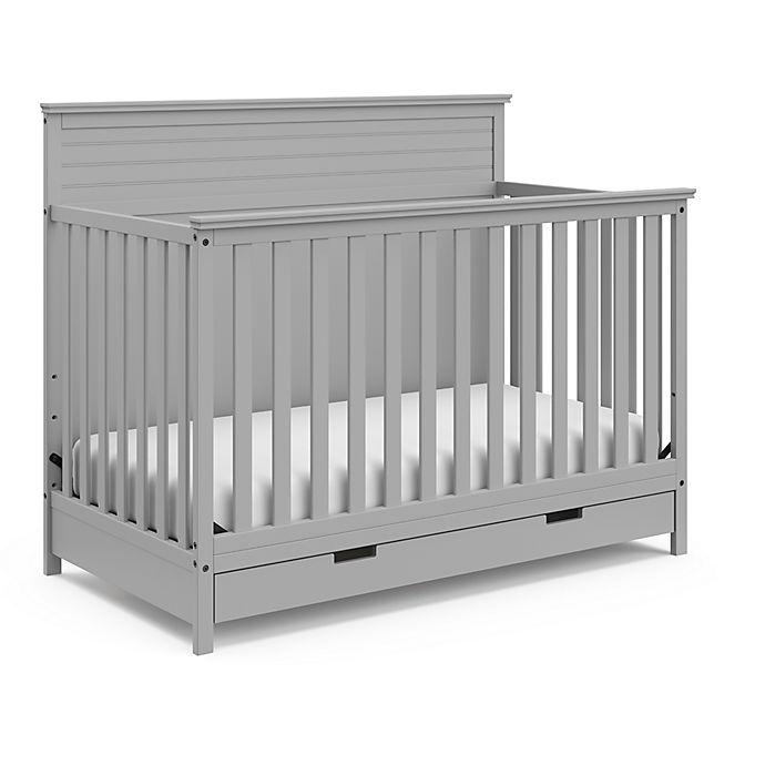 Alternate image 1 for Storkcraft™ Homestead 4-in-1 Convertible Crib with Storage Drawer in Pebble Gray