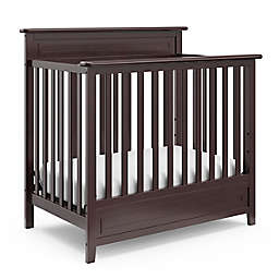 Storkcraft Petal Mini 4-in-1 Crib with Mattress in Espresso