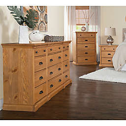 Travers Bedroom Furniture Collection in Dark Honey