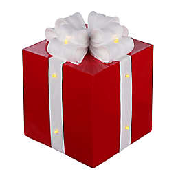 OIC Products 9.5-Inch Pre-Lit LED Christmas Present in Red