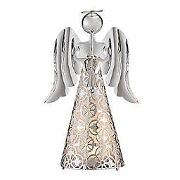 LED Angel Tabletop Figurine in Silver