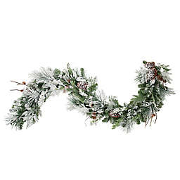 OIC Products 6-Foot Pre-Lit Snowfall Creek Christmas Garland in White