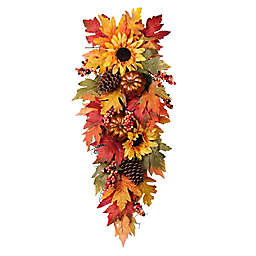 32-Inch Faux Sunflower Swag in Yellow