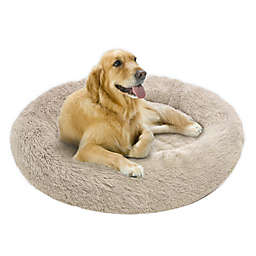 Friends Forever Coco Faux Fur Calming Donut Cuddler Pet Bed