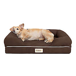 Friends Forever™ Chester Small Orthopedic Memory Foam Dog Couch in Brown