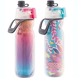 O2COOL® Mist N' Sip 2-Pack 20 oz. Water Bottles in Ombre Raspberry/Tropical