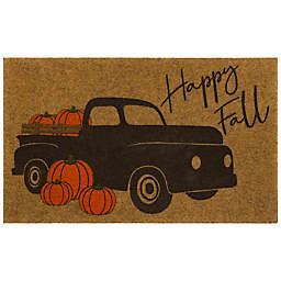 """Mohawk Home® Harvest Pickup 18"""" x 30"""" Pinched Edge Door Mat in Brown/Orange"""