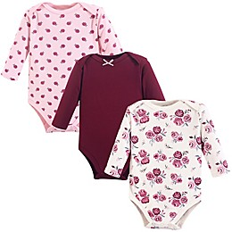 Hudson Baby® 3-Pack Long Sleeve Bodysuits