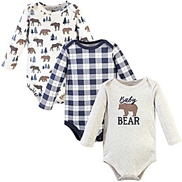 Hudson Baby® 3-Pack Cotton Long Sleeve Bodysuits
