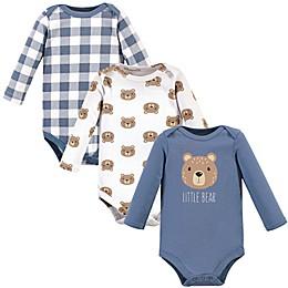Hudson Baby® 3-Piece Little Bear Long Sleeve Bodysuits