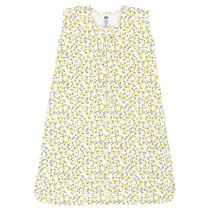 Alternate image 1 for Hudson Baby® Size 0-6M Flower Wearable Blanket in Yellow
