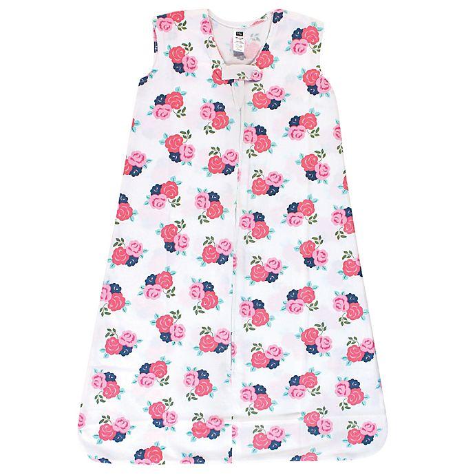 Alternate image 1 for Hudson Baby® Size 0-6M Floral Wearable Blanket in Pink