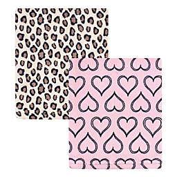 Hudson Baby® 2-Pack Leopard Fleece Blankets in Pink