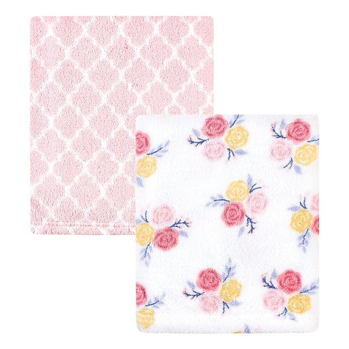 Alternate image 1 for Hudson Baby® 2-Pack Blossoms Fleece Blankets in Pink