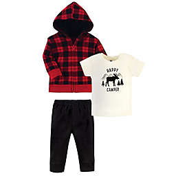 Hudson Baby Size 4T Plaid Moose 3-Piece Layette Set