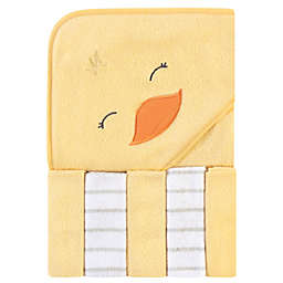 Hudson Baby® Duck 6-Piece Hooded Towel & Washcloths Set in Yellow