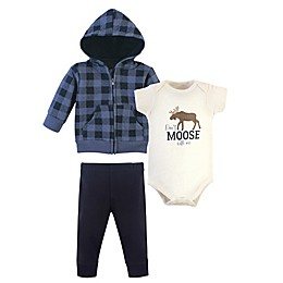 Hudson Baby® 3-Piece Quilted Hoodie, Bodysuit, and Pant Set