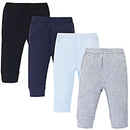 Touched by Nature® Size 2T 4-Piece Organic Cotton Pants in Grey/Navy