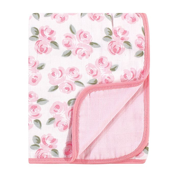 Alternate image 1 for Little Treasure® Beauty Muslin Quilt Blanket in Pink