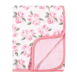 Little Treasure® Beauty Muslin Quilt Blanket in Pink