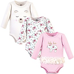 Little Treasure 3-Pack Long Sleeve Bodysuits