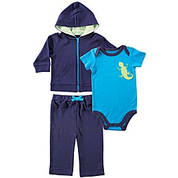 Yoga Sprout 3-Piece Lizard Baby Layette Set