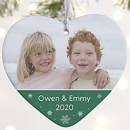 Heart 4-Inch Porcelain Christmas Ornament