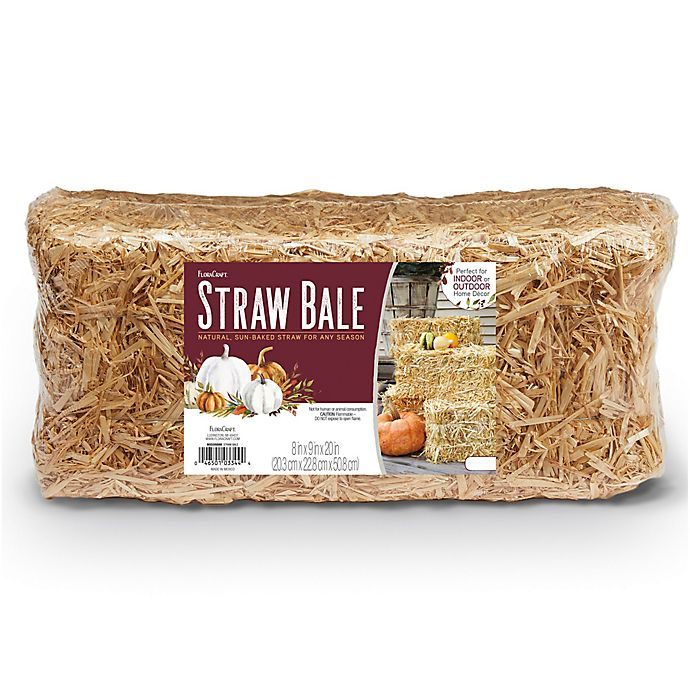 Alternate image 1 for FloraCraft® Decorative Sun-Bleached Straw Bale in Natural