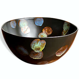 Carmel Ceramica® Dappled 10-Inch Round Bowl in Dark Brown
