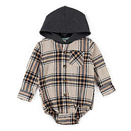 Sovereign Code® Size 18M Triumph Hooded Plaid Bodysuit in Grey
