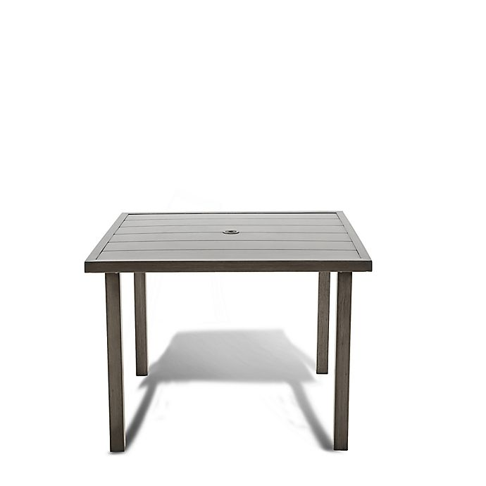 Alternate image 1 for Bee & Willow™ Home Amesbury Square 4 Person Dining Table in Brown/Grey